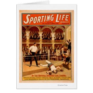 """Cartão """"Poster teatral ostentando do jogo do"""
