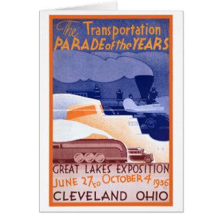Cartão Poster vintage da expo dos EUA Ohio restaurado