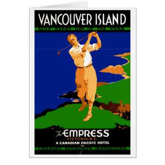 Cartão Poster vintage da ilha dos EUA Vancôver restaurado