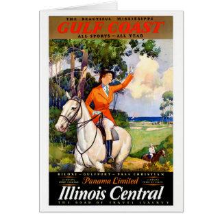 Cartão Poster vintage restaurado Mississippi de Illinois