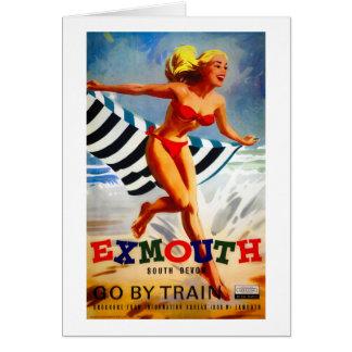Cartão Poster vintage sul de Austrália Exmouth Devon