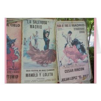 Cartão Posters do Flamenco, Madrid