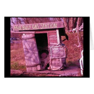 Cartão Posto de gasolina do Hillbilly