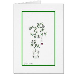 Cartão Pote de flor
