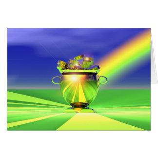 Cartão Pote do ouro de ouro