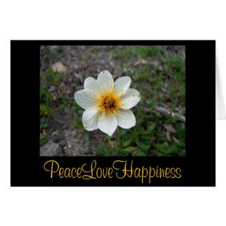 Cartão Pouca flor branca