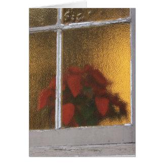 Cartão Pouca igreja da janela de Villita do La no Natal