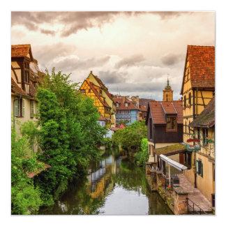 Cartão Pouca Veneza, pequeno Venise, em Colmar, France