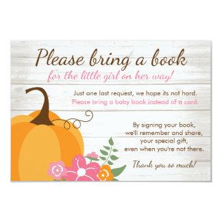 Cartão Pouco chá de fraldas da menina da queda da abóbora