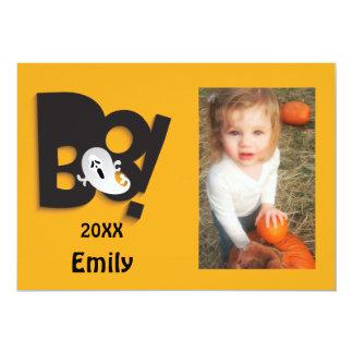 Cartão Pouco quadro personalizado fantasma da foto do Dia
