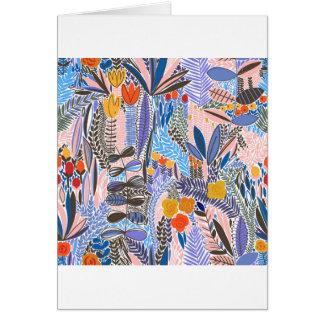 Cartão Povos do ethno das flores dos elementos do design