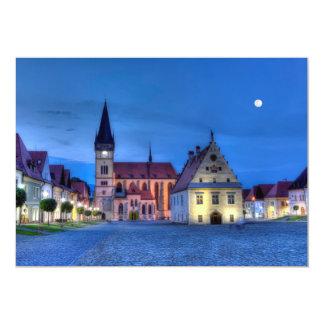 Cartão Praça da cidade velha em Bardejov, Slovakia, HDR