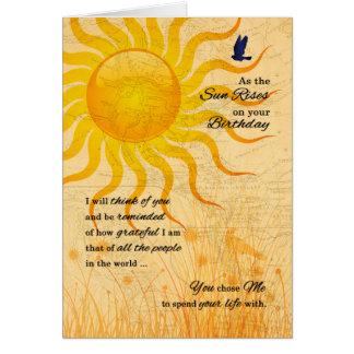 Cartão Prado do verão do aniversário | do sócio da vida