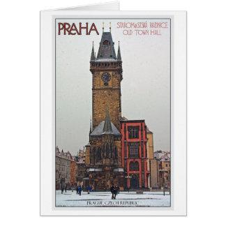 Cartão Praga - câmara municipal velha
