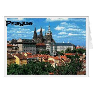 Cartão Praga no azul