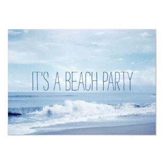 Cartão Praia azul retro bonito do oceano de Florida