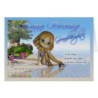 Cartão Praia da coleção da torta de Cutie da neta do