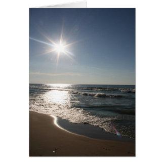 Cartão Praia das dunas de Indiana