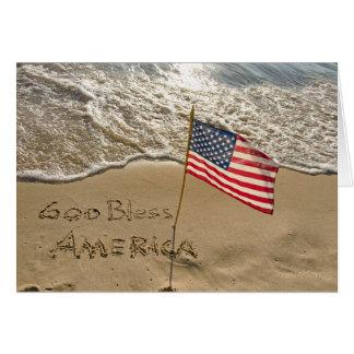 Cartão Praia de América dos deus abençoe