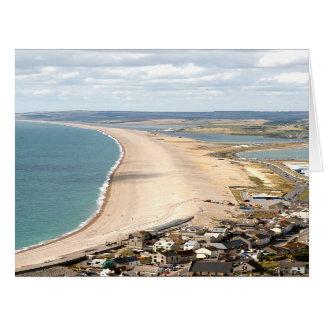 Cartão Praia de Chesil, Weymouth