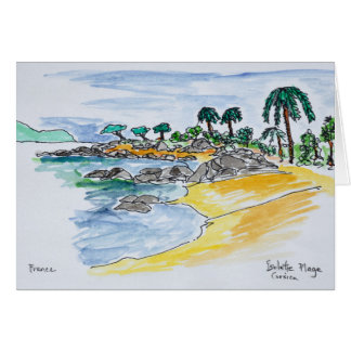 Cartão Praia de Isolella, Ajácio | Córsega, France