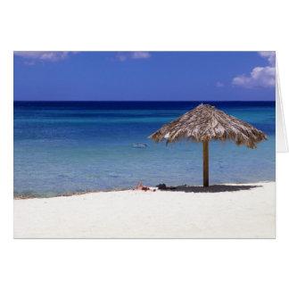 Cartão Praia de Malmok, Aruba, Antilhas holandesas
