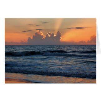 Cartão Praia dos EUA, Geórgia, ilha de Tybee, ilha de