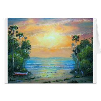 Cartão Praia ensolarada tropical