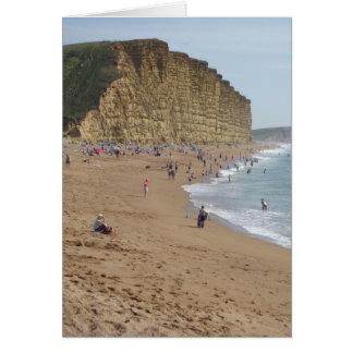 Cartão Praia ocidental da baía
