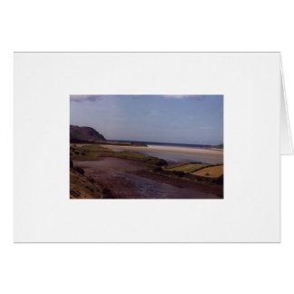 Cartão Praia perto de Ardara, Co.Donegal.Ireland