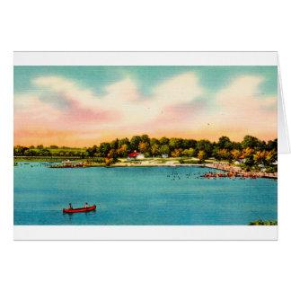 Cartão Praias de banho Danbury do lago Candlewood,