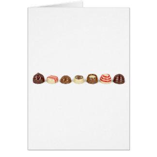 Cartão Pralines do chocolate