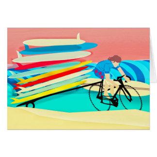 Cartão Prancha do carregando da bicicleta