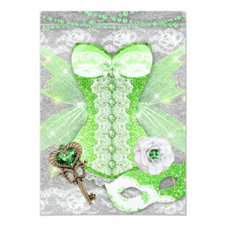 Cartão Prata da máscara do espartilho da chave do VERDE