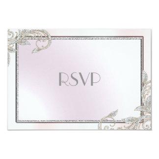 Cartão Prata elegante RSVP