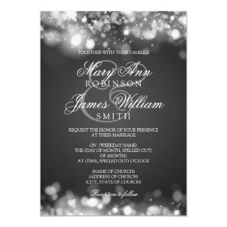 Cartão Prata Sparkling Wedding das luzes
