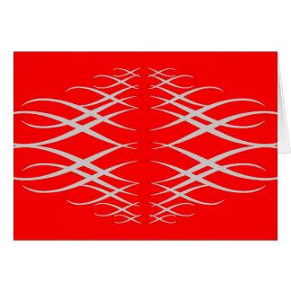 Cartão Prata & vermelho