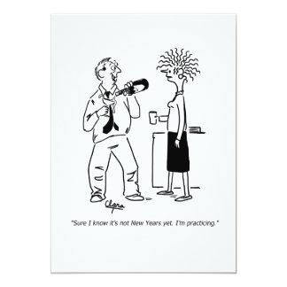 Cartão Praticar para o dia do ano novo