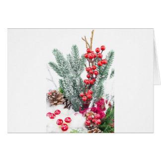 Cartão Prato do Natal com a decoração dos cogumelos das