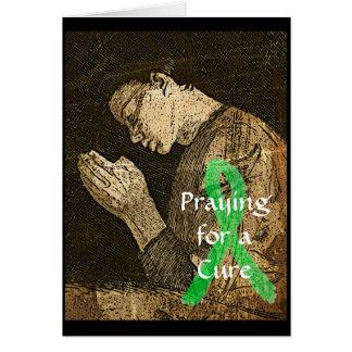 Cartão Praying para uma cura para tudo. Doença de Lyme do