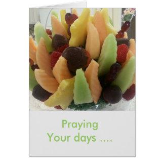 Cartão Praying seus dias