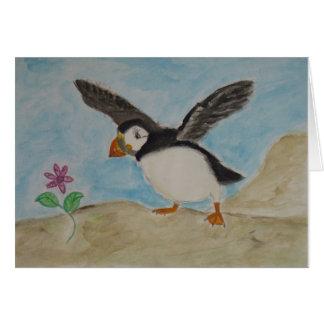 Cartão prazeres do papagaio-do-mar