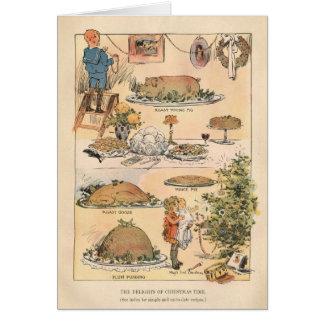 Cartão Prazeres do tempo do Natal