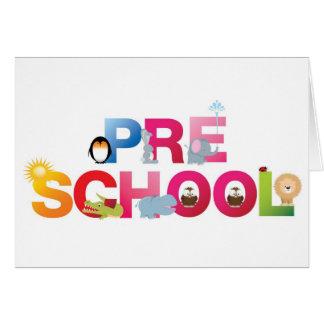 Cartão pre palavra da escola em letras do divertimento