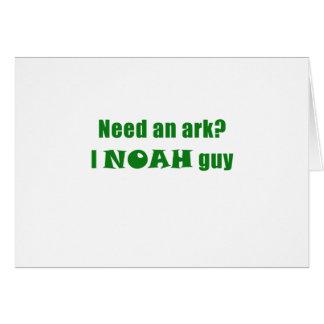 Cartão Precise uma arca mim cara de Noah