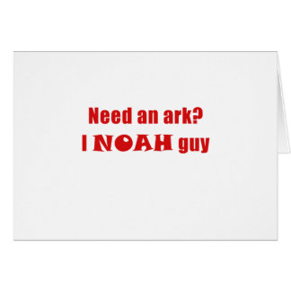 Cartão Precise uma arca mim Noah uma cara