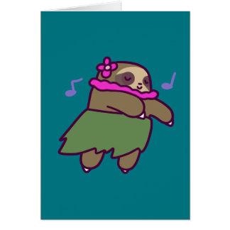 Cartão Preguiça de Hula