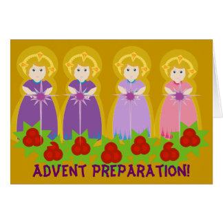 Cartão Preparação do ADVENTO! - Personalize