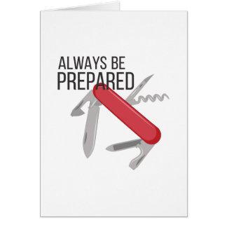 Cartão Preparado sempre