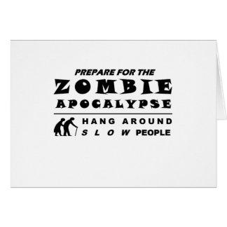 Cartão Prepare para o zombi